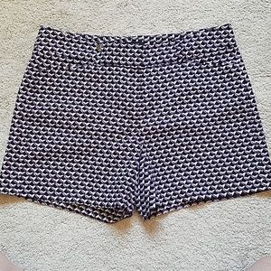 Patterned shorts from White House Black Market